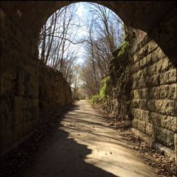 Rochport Tunnel on the Katy Trail. Photo courtesy of Stacy Oldfield, Agent.